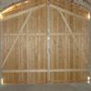 Holz Scheunentor von Innen