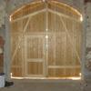 Holzscheunentor mit Tür von Innen